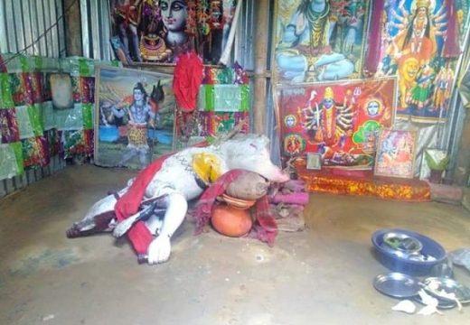 একইরাতে শ্রীমঙ্গলে ৭টি মন্দির চুরি ও প্রতিমা ভাংচুর