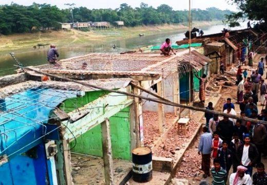 জকিগঞ্জ ও জৈন্তাপুরে ১শ' অবৈধ স্থাপনা উচ্ছেদ