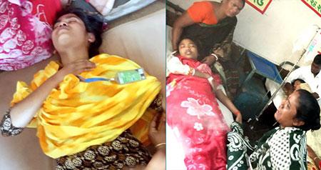 নীলফামারীতে হঠাৎঅসুস্থ হয়ে হাসপাতালে ২৯ নারী শ্রমিক